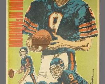 1980s Chicago Bears Sun-Times Poster Jim McMahon NFL Football Newsprint Insert