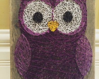 MADE TO ORDER Owl String Art Sign