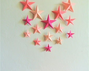 """Mobile """"stars"""" coral, fuchsia, fishing, float and cotton wood"""