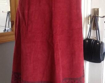 Cloth Kits skirt, Folk, Scandi style print, 1970s size 12 (uk) RARE.