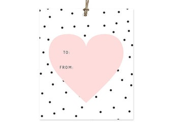 Heart - Gift Tags Set of 10