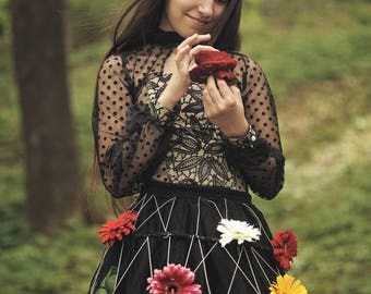 Spring dots corset & crinoline costume