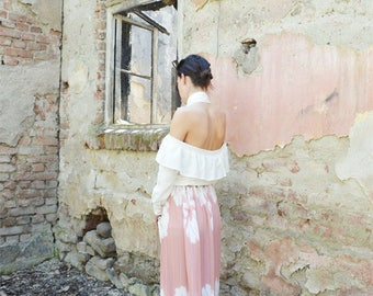 Bridesmaid skirt,Bridesmaid dress,Boho chic,Minimalist Skirt,Bohemian skirt,Long Boho skirt,Wedding skirt,Chiffon skirt,Maxi Pleated Skirt,