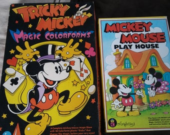 Vintage 1970s Mickey Mouse Colorforms LOT