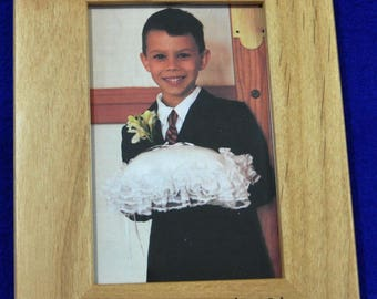 Ring Bearer Gift ~ Gifts For Ring Bearer ~ Ring Bearer Picture Frame ~ Bridal Party Gifts ~ Groomsmen Gifts ~ Weddings ~ Wedding Frames ~