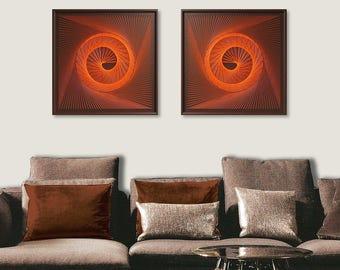 Zen Wall Decor abstract zen wall art in silver gray 3d sacred geometry