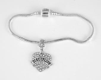 Discipline Jewelry  Discipline Gift Dicipline Bracelet Strict Military 50 Shades Key Chain  Best Jewelry Gift Key Chain European Style