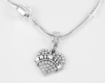 Lil Sis Necklace Lil Sis Jewelry Lis sis Charm Little sister Daughter Little sister Little sister gift Lil sis lil sister European Style