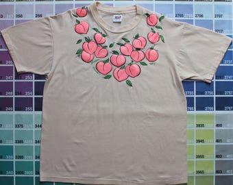 Vintage Georgia shirt | Georgia peach shirt | Georgia tee 1990s | Georgia  tourist shirts | glittery peach t shirt | Georgia shirt vintage