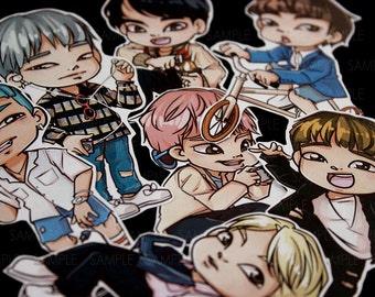BTS Bangtan Boys FIRE | RapMonster, Jin, Jimin, Jungkook, V, Suga, JHope | Stickers