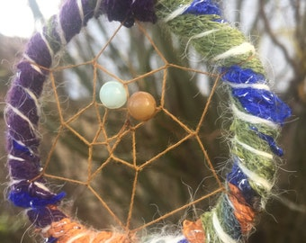 Rainbow Lights Dreamcatcher w Amazonite