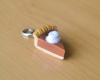 Pumpkin Pie Slice Polymer Clay charm