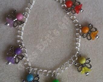 Rainbow Fairy Charm Bracelet