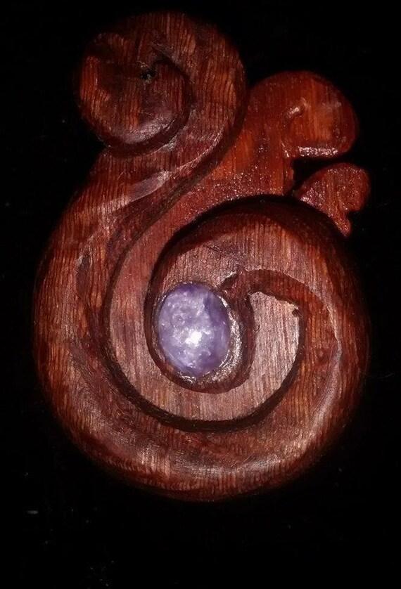 Wood necklace, thread cutter, maori pendant, tribal necklace
