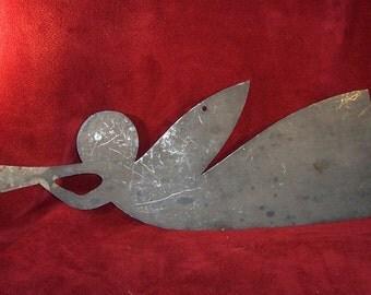 Vintage Angel Tin Cut-Out Folk Art Primitive Christmas Decor