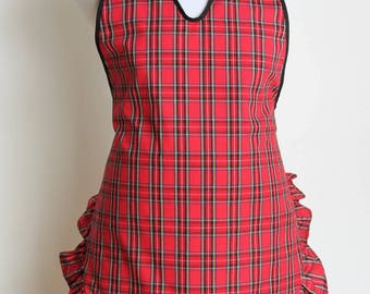 Red Plaid Apron, Mother's Day Gift