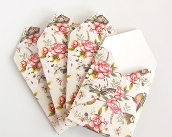 10 square cute envelopes handmade unique patterned envelope pack 4 bird envelopes luxury giftmoneyfavour nature and flower patterned stationery envelope for stationerymothers dayeaster gifts wallets negle Choice Image