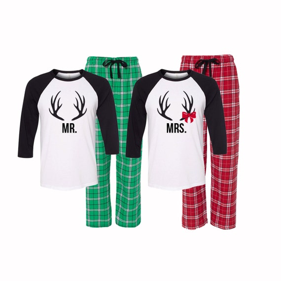 Mr and Mrs Christmas Pajamas Matching by GiftsfortheGirls ...