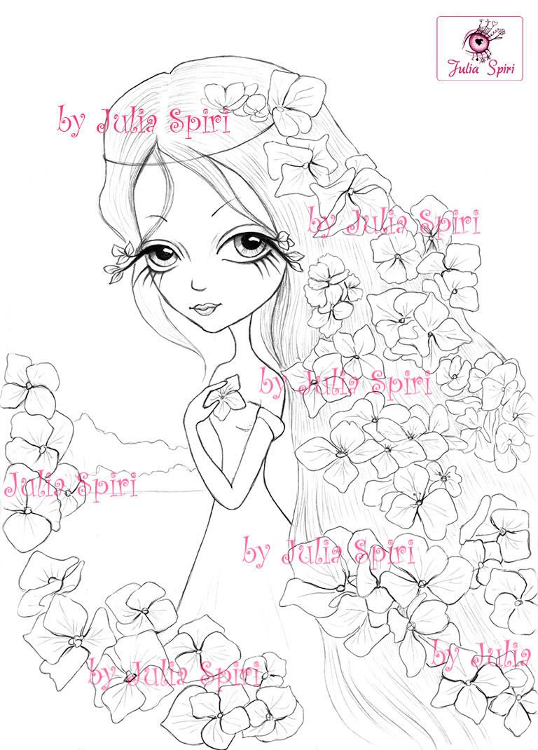 Hydrangea flower coloring pages - This Is A Digital File