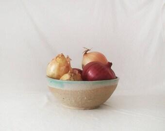 Large ceramic bowl, Large Serving ceramic dishware, Handmade ceramic dinnerware, Mint pottery bowl, Handmade pottery bowl