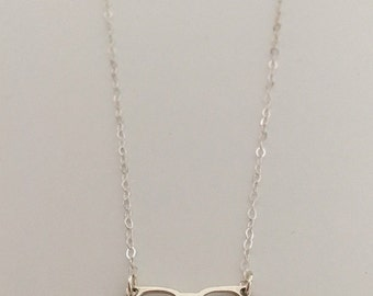 Glasses pendant, necklace, sterling silver