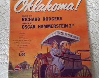 """Vintage """"Oklahoma"""" music book, Rodgers and Hammerstein, vocal selections"""