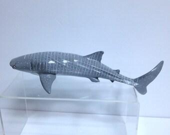 Whale Shark Model, Vintage Monterey Bay Aquarium Collection 1991, Safari Ltd., Large Ocean Wildlife Model Souvenir, Hand-Sized Diorama Model