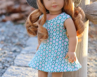Floral Spring Dress - 18 Inch Doll Clothes