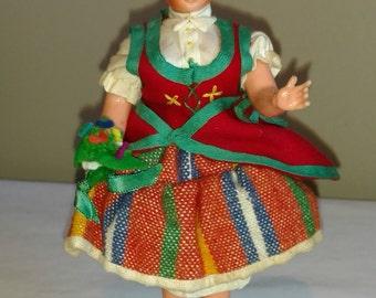 "Vintage 7"" ""MUHHER DA MADEIRA"" Hard Plastic Doll from Portugal"