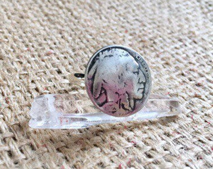 Buffalo Nickel Ring, Vintage Coin Ring, Native American Ring, Indian Nickel Ring, Upcycled Coin Ring, Authentic Coin Ring, Vintage Ring