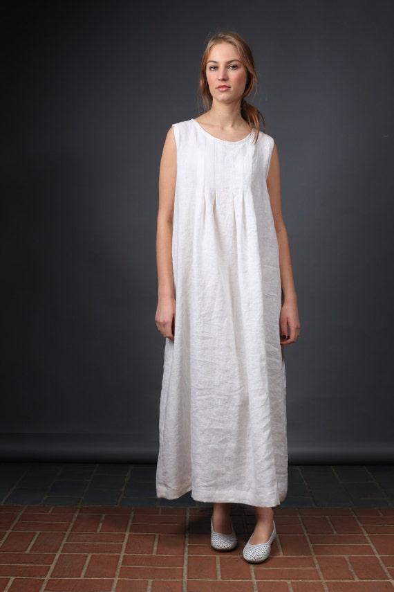 robe en lin robe en lin blanche longue robe lin robe sans. Black Bedroom Furniture Sets. Home Design Ideas