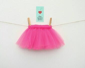 Hot Pink Tutu, Baby Girl Tutu, Newborn Tutu, Pink, Hot Pink, Baby Girl, Newborn, Girl, Tutu