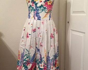 Vintage floral Lanz brand dress