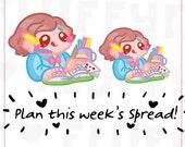 Planning Sammie || Planner Stickers, Cute Stickers for Erin Condren (ECLP), Filofax, Kikki K, Etc. || SFS94