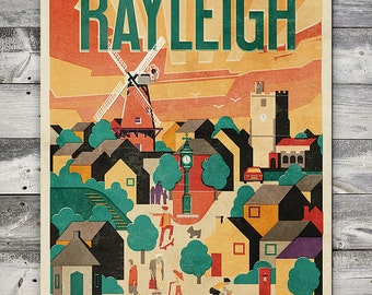 Rayleigh - Poster (A4 & A2 Sizes)