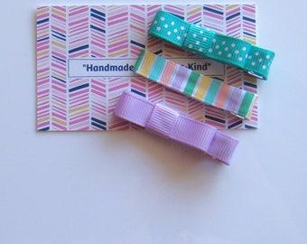 Hair Clips for Girls Toddler Barrette Kids Hair Accessories Grosgrain Ribbon No Slip Grip