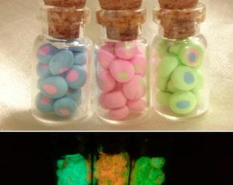 Glow in the Dark UV Mini Sweet Candy Jars Set