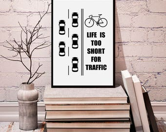 Bicycle, bicycle poster, bicycle print, bicycle art, bicycle wall art, bike poster, bike art, minimalist bike, bike print, bicycle gift