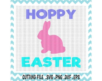 Easter Bunny Svg, Hoppy Easter Svg, Png, Eps, Dxf, Cutting Files For Silhouette Cameo/ Cricut, Svg Download.