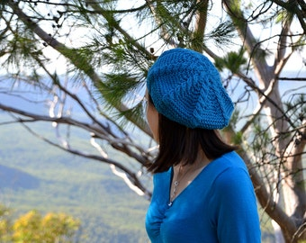 Cable Beret Knitting Pattern. Beret Knitting Pattern. Hat. Knitting. Pattern. Slouchy Beanie. PDF Download. Knitting Pattern. Baby. Adult.