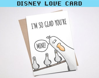 MINE FINDING NEMO Greeting Card | Funny Punny Love Pixar Cute Boyfriend Girlfriend Anniversary Disney Seagull | Download or Physical