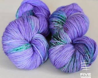 Hand dyed yarn, Alium- Sock - Merino Superwash/Cashmere/Nylon, Handdyed yarn, Handdyed sock yarn, MCN