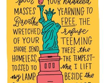 Statue of Liberty Illustration Print