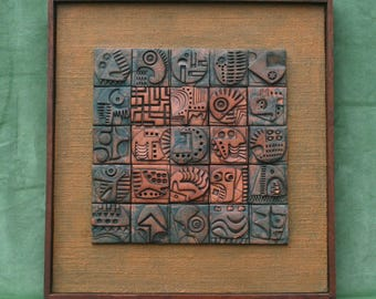 Ceramic Wall Relief  by Ron Hitchins