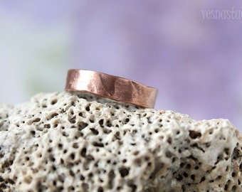 Copper mens ring Simple adjustable copper ring band Simple copper ring band Men's rustic ring Adjustable copper ring band  Mens gift