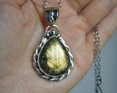 Jewelry, Necklaces, Pendants, Labradorite necklace, Labradorite pendant, Labradorite Necklace silver, Moonstone Necklace, blue labradorite