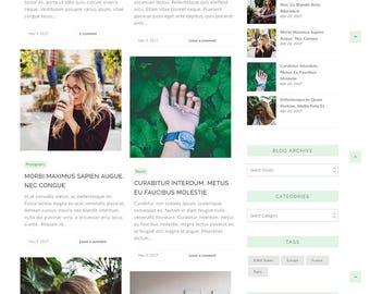 Wordpress Theme, Wordpress Ecommerce Theme Responsive Blog Theme Design - Cassandra ( Free Installation )