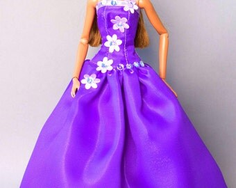 Barbie clothes - evening dress - Fashion Royalty doll clothes