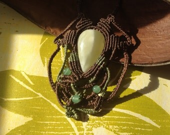 Tinkerbell I - Amazing green Onyx necklace