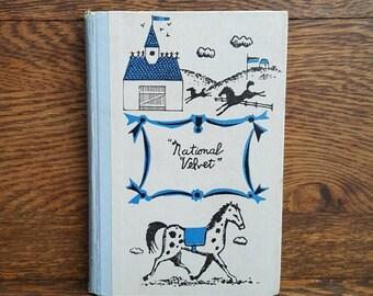 Vintage National Velvet- 1940's/1960's Children's Classic Books- Junior Deluxe Editions- Hardcover, Illustrated